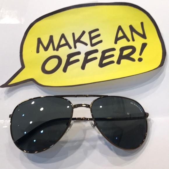 Burberry Accessories - Burberry Aviator Folding Sunglasses.3071 1061/87